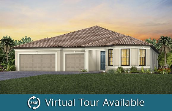 Renown:The Renown, a one-story single family home with a 3 car garage shown as Home Exterior FM2