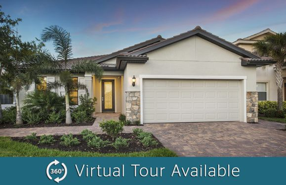 Canopy:The Canopy, a single-story home with a 2 car garage, shown with Home Exterior FM2A