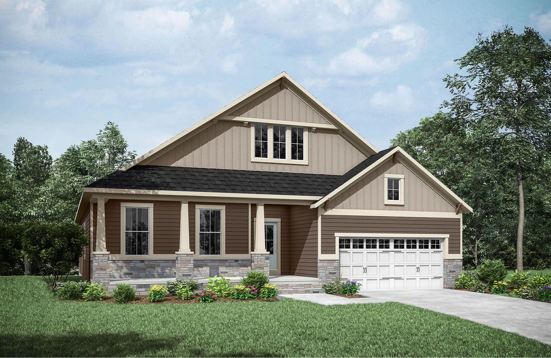 Woodbury B:Woodbury B with side-entry garage