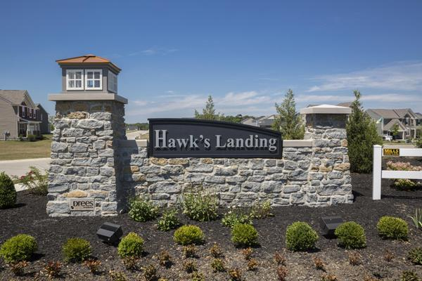 The Hawk's Landing Community Entrance