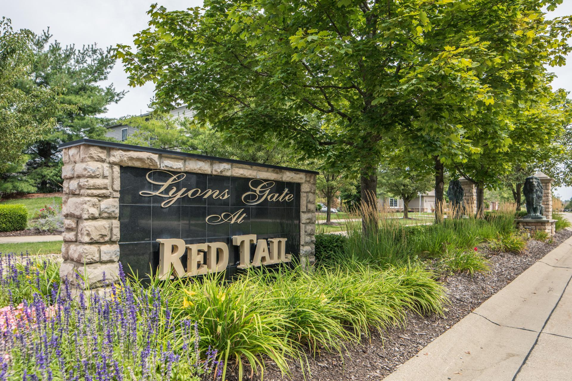 The Red Tail Community Entrance