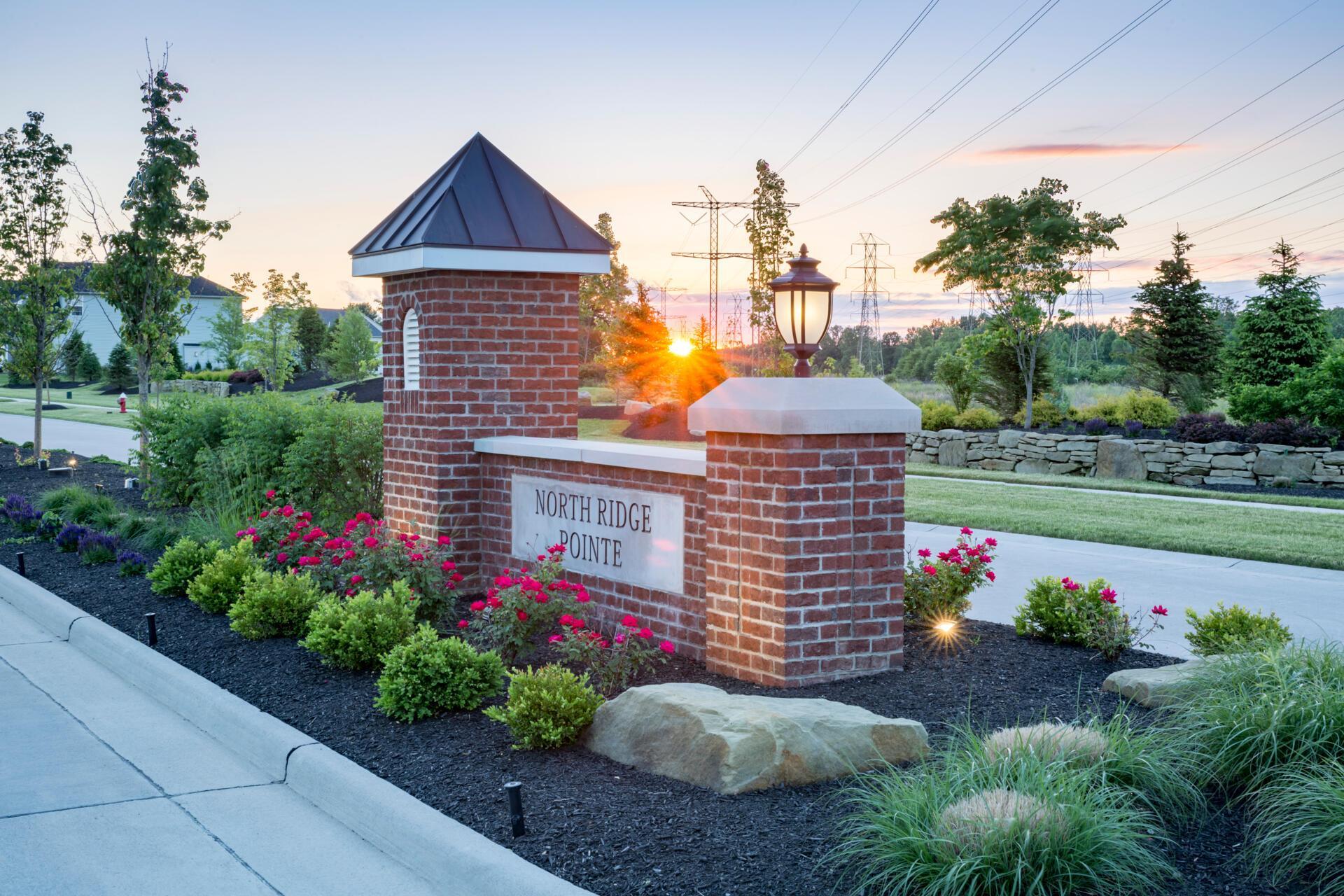 The North Ridge Pointe Community Entrance