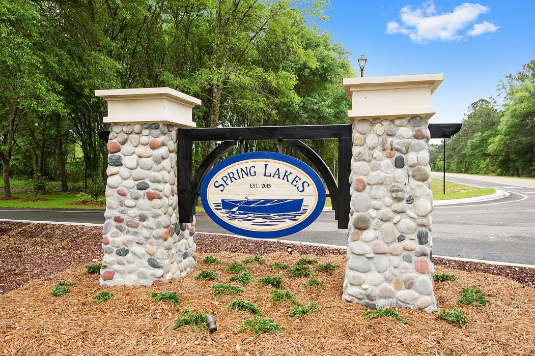 Front Entrance Sign - Spring Lakes- DSLD Homes Covington