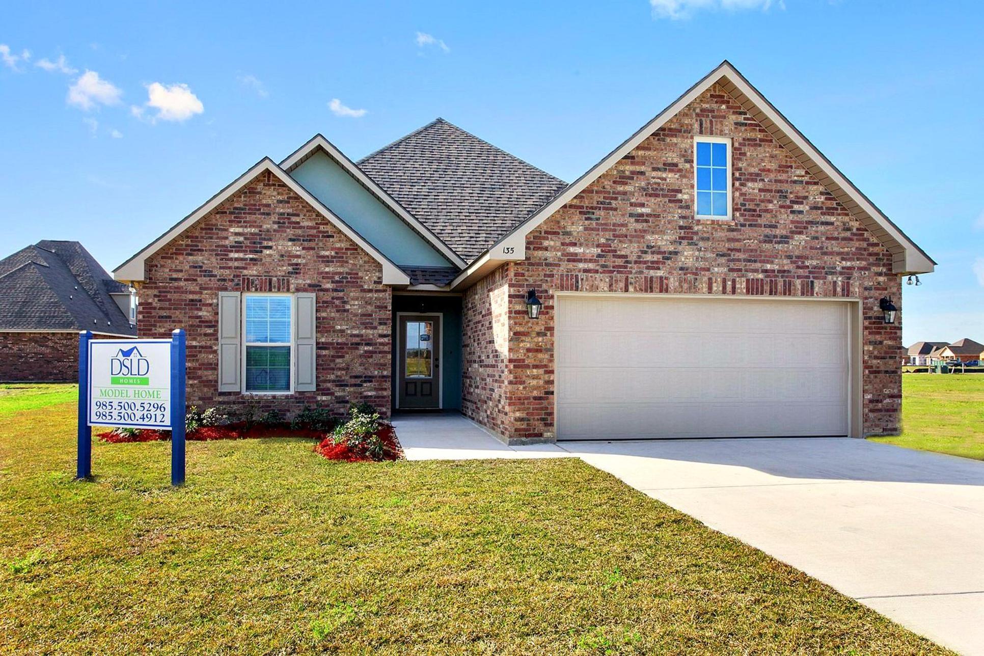 King George Estates Model Home Exterior - King George Estates Community - DSLD Homes - Thibodaux
