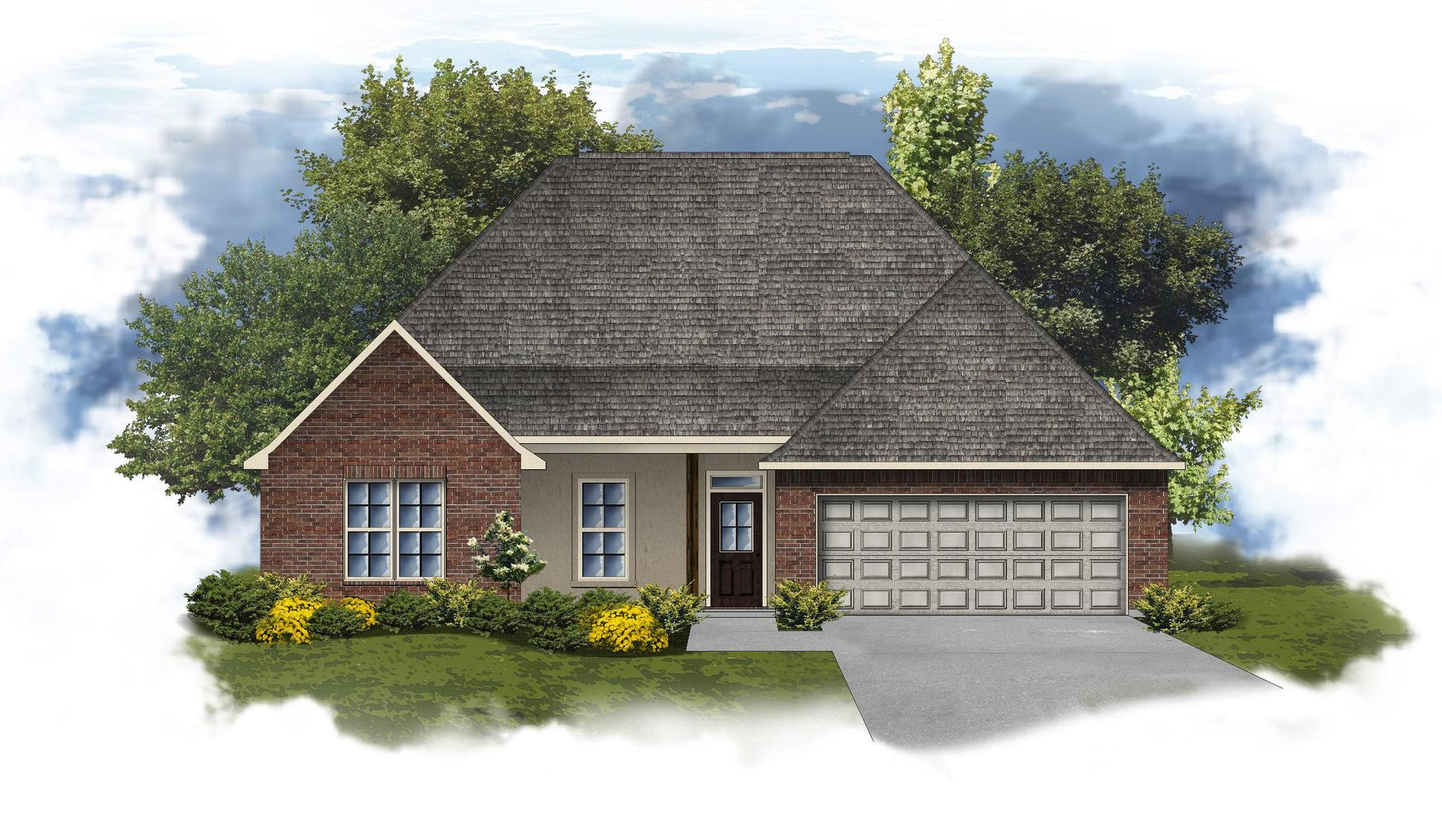 Cognac IV A Open Floorplan Elevation - DSLD Homes