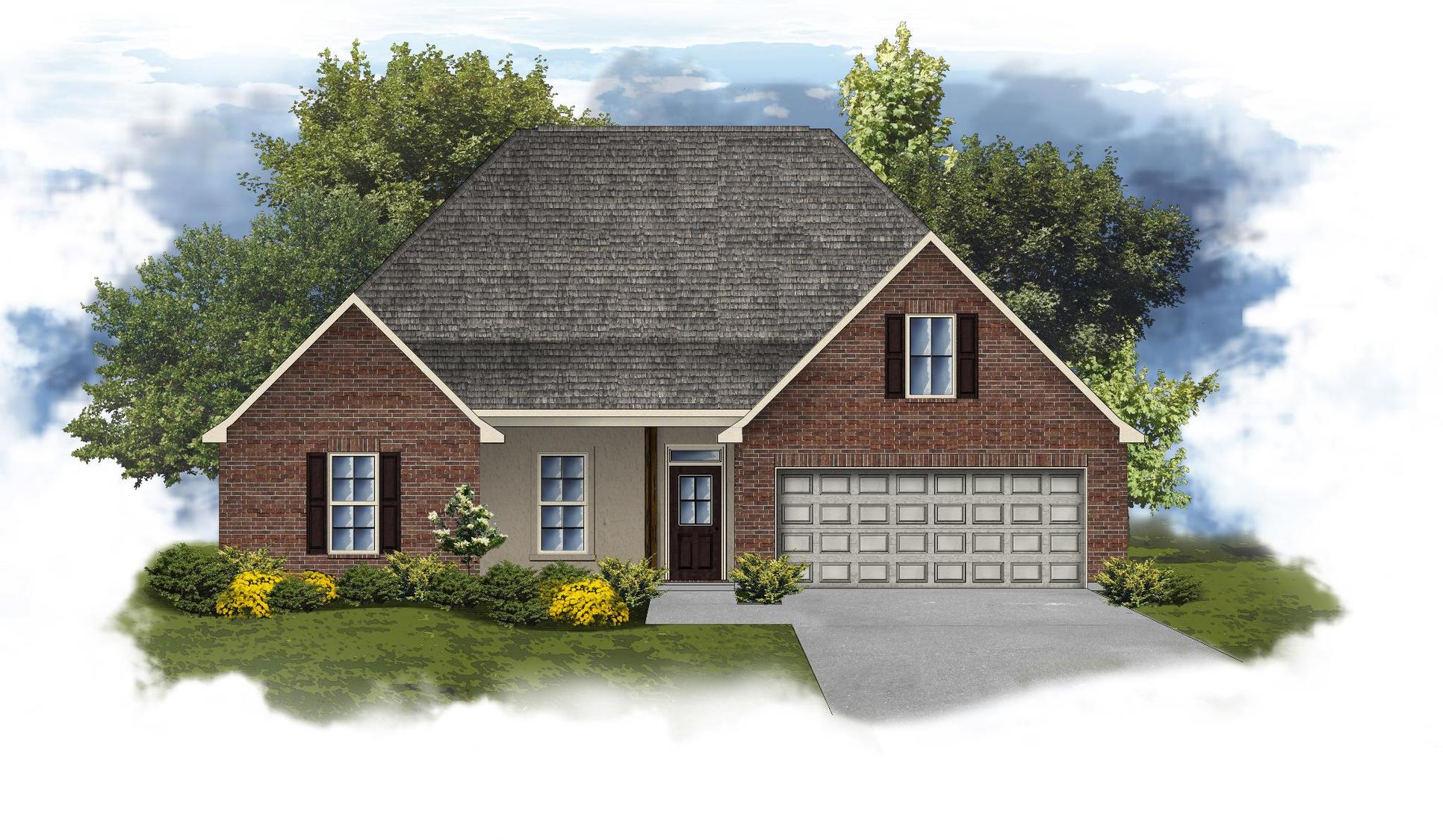 Cognac IV B Open Floorplan Elevation - DSLD Homes