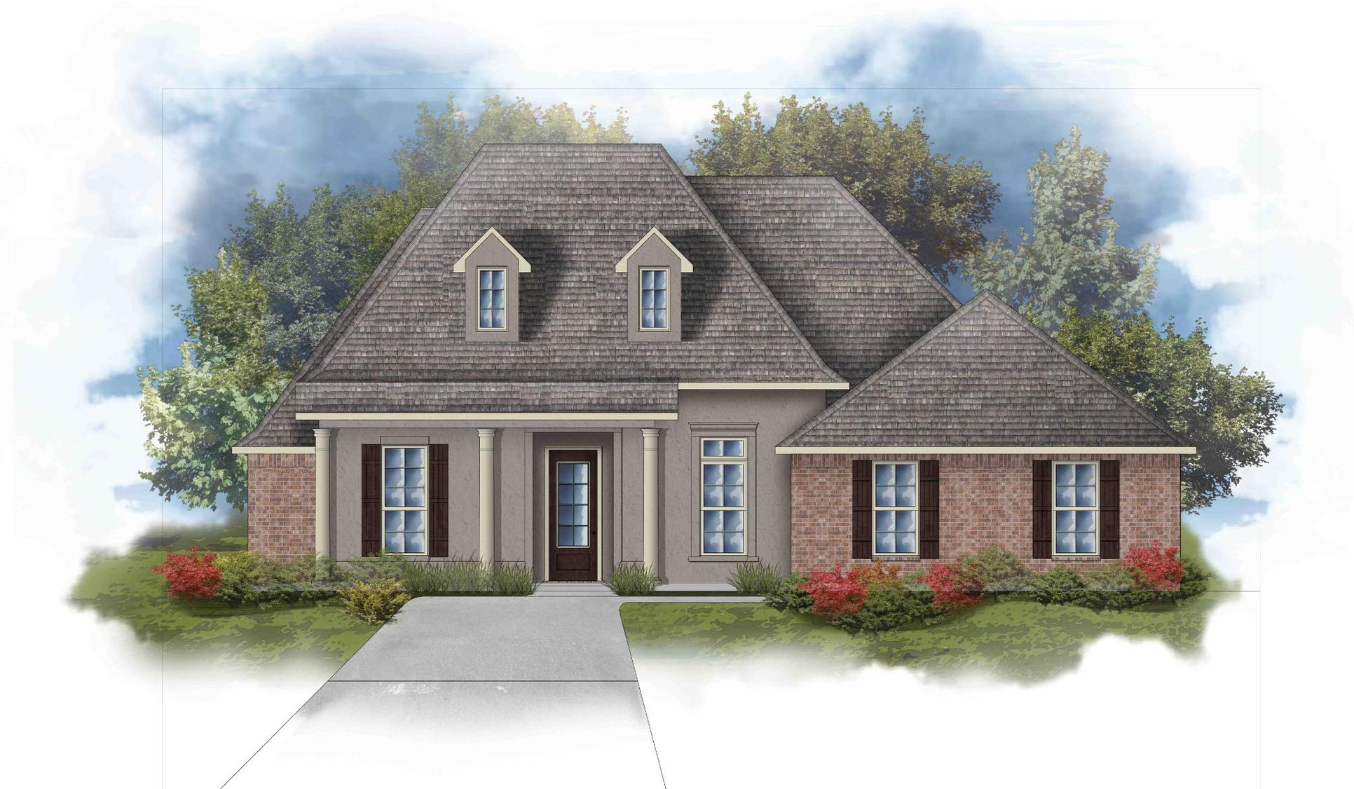 Raphael III C Open Floorplan Elevation Image - DSLD Homes