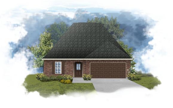 Narbonne III B Open Floorplan Elevation - DSLD Homes