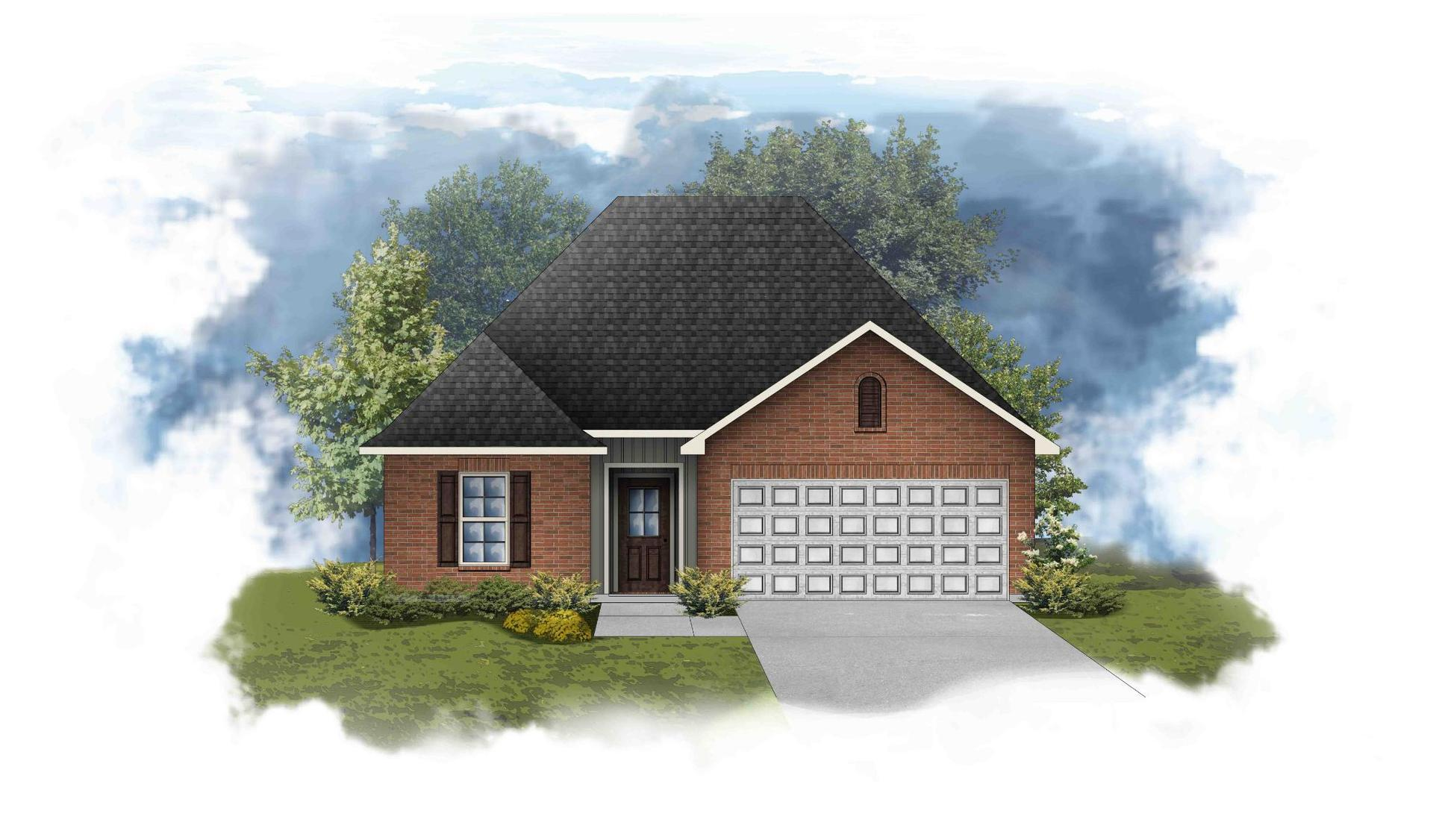 Carlton III G - Front Elevation - Open Floor Plan