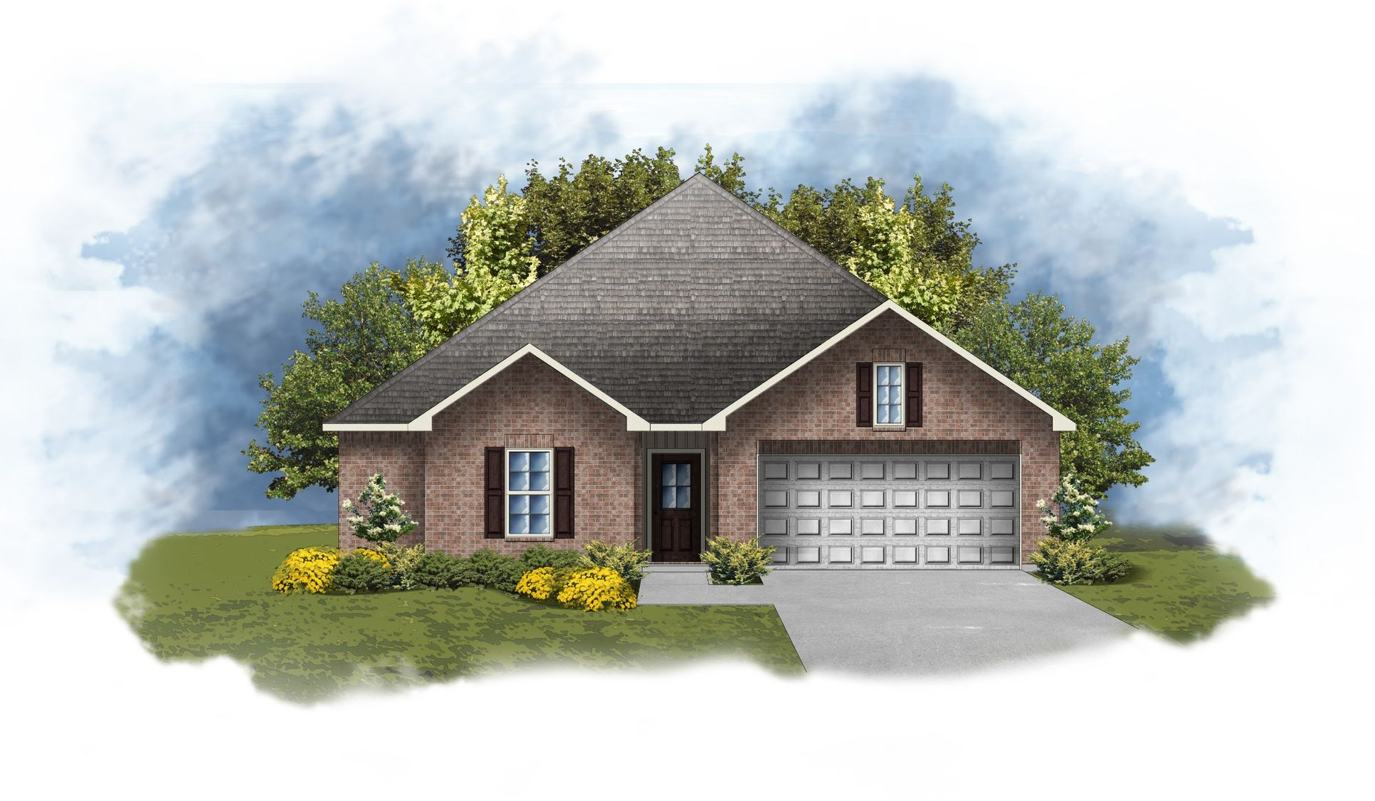 Hillsborough IV G Front Elevation Image - DSLD Homes