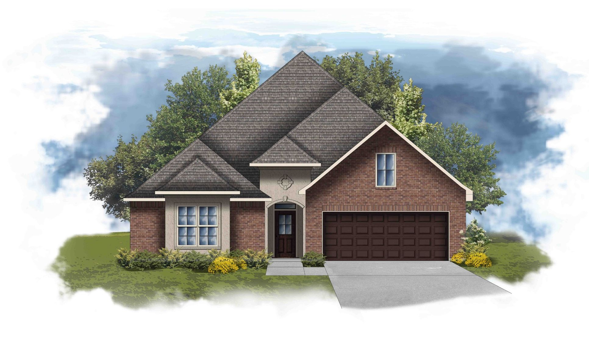 Sansa II A Open Floorplan  Elevation - DSLD Homes