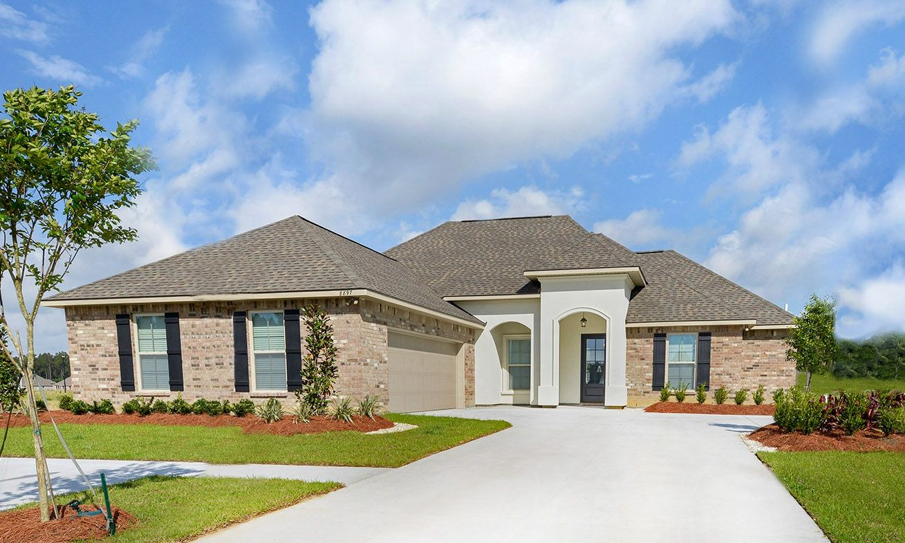 Front of the Model Home - Nickens Lake- DSLD Homes Denham Springs:Nickens Lake Front of the Model Home