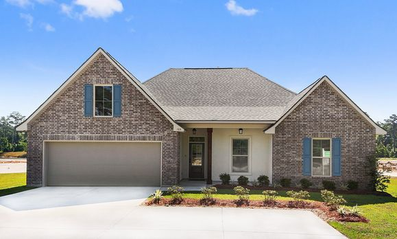 Front of the Model - Ashton Parc - DSLD Homes Slidell:Ashton Parc Model Home Exterior- Slidell, LA