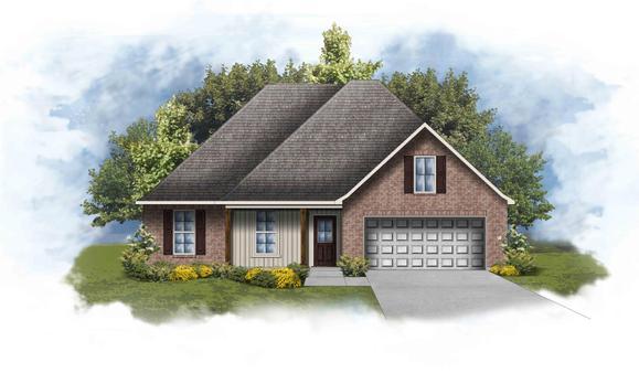Ripley IV G - Front Elevation - Open Floor Plan - DSLD Homes