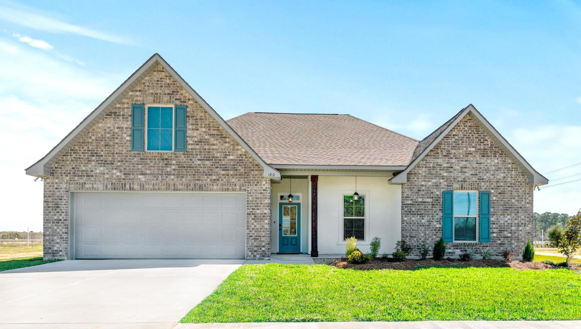 new home community in lake charles la by dsld homes:Porter's Cove Model Home Exterior - DSLD Homes
