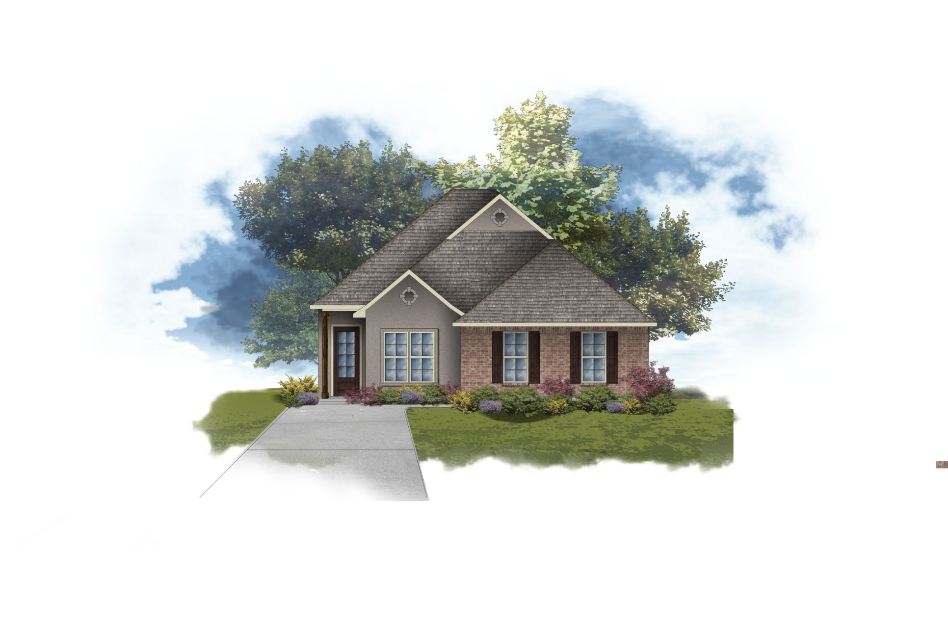DSLD Homes - Alfani II B Open Floorplan Elevation Image