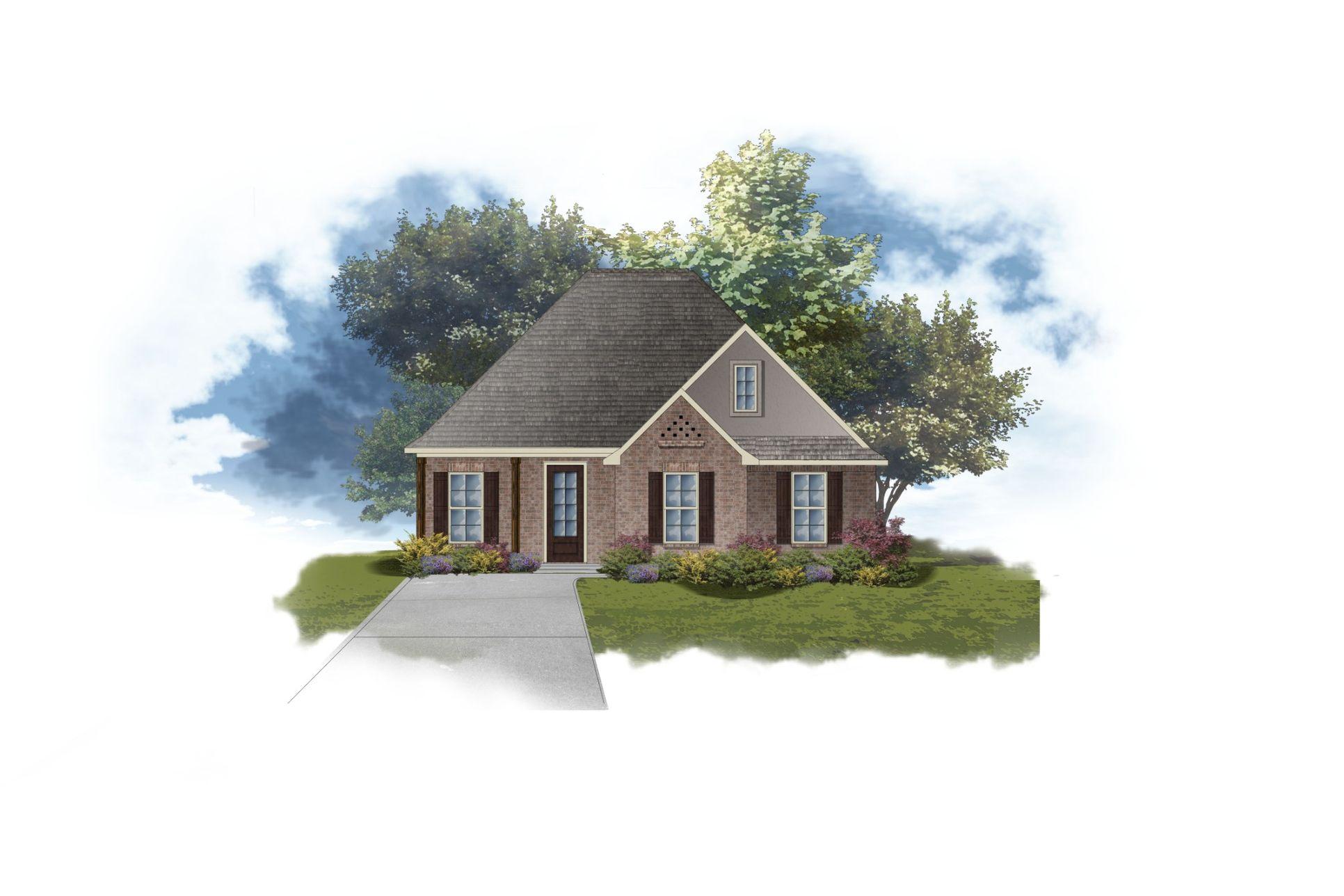 DSLD Homes - Boucher II B Open Floorplan Elevation Image
