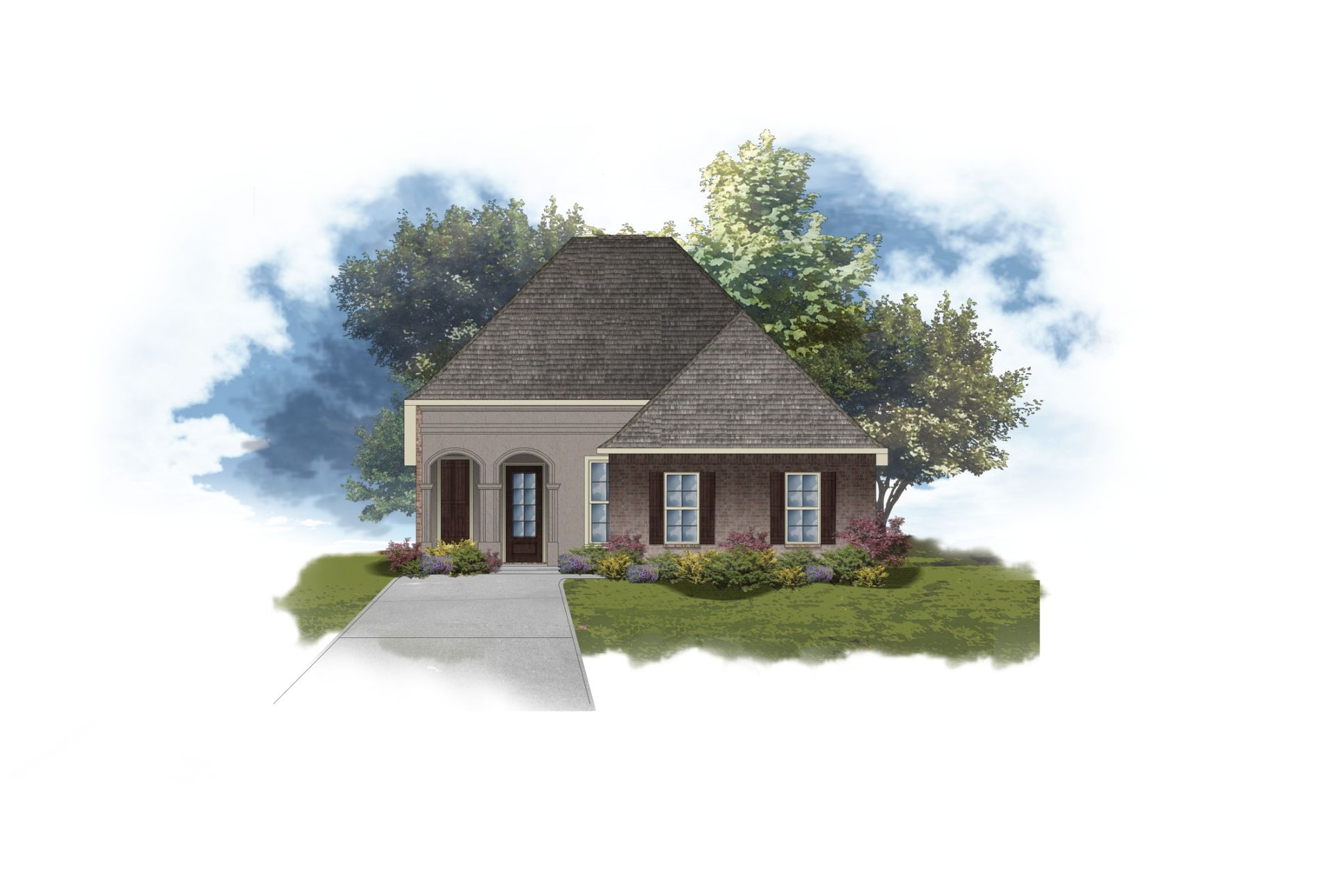 DSLD Homes - Rousseau II A Open Floor-plan Elevation Image