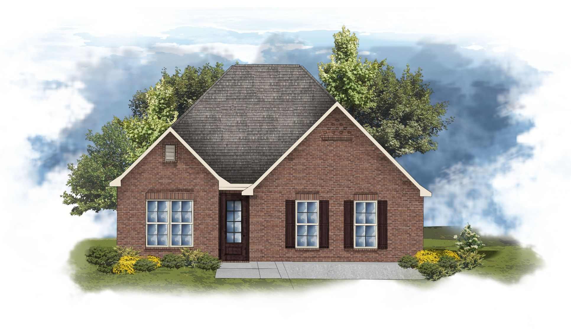 DSLD Homes - Degas II B Open Floor-Plan Elevation Image