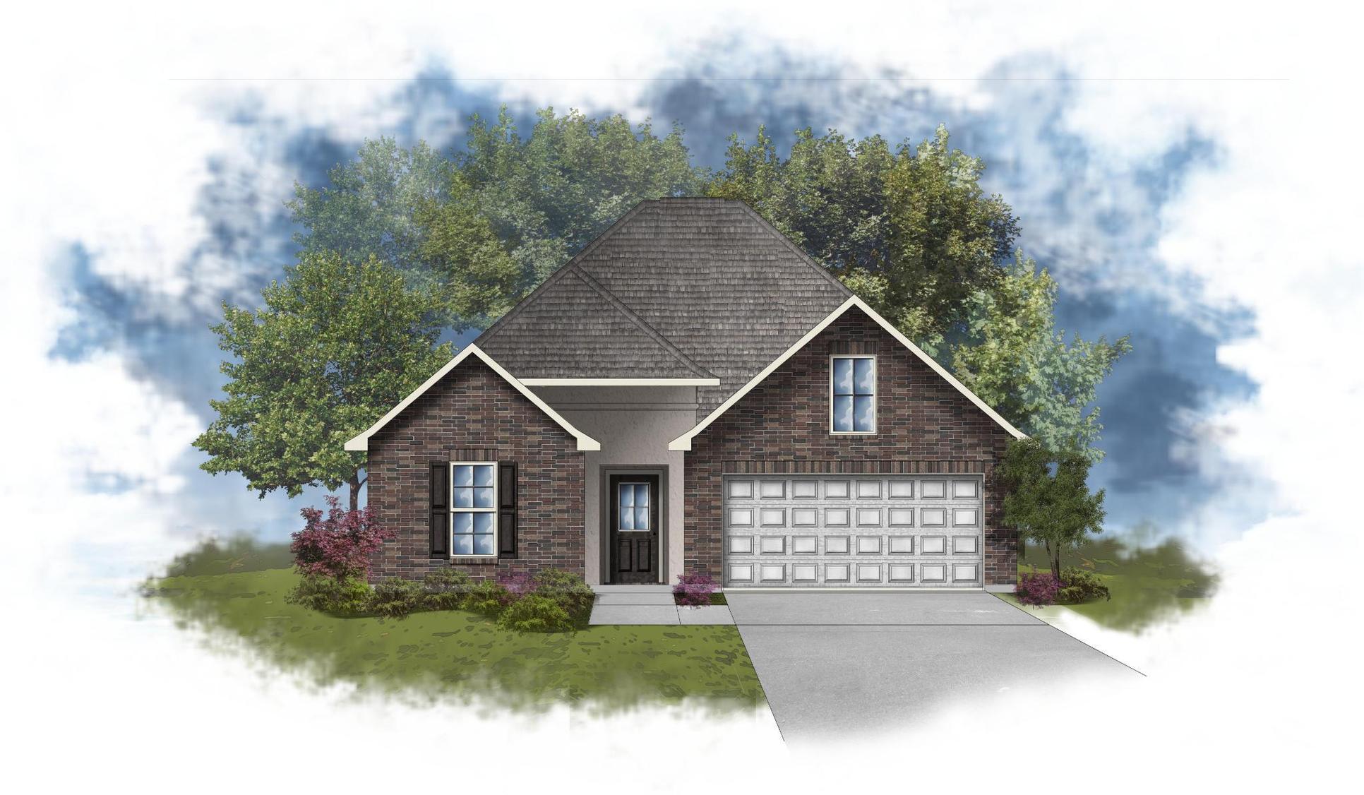 Longridge IV B - Front Elevation - DSLD Homes
