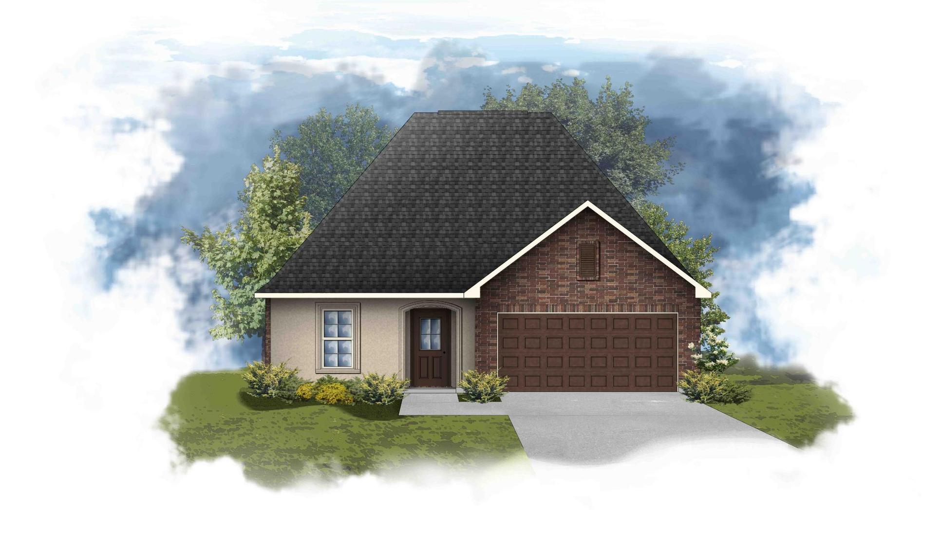 Norris III A - Front Elevation - DSLD Homes