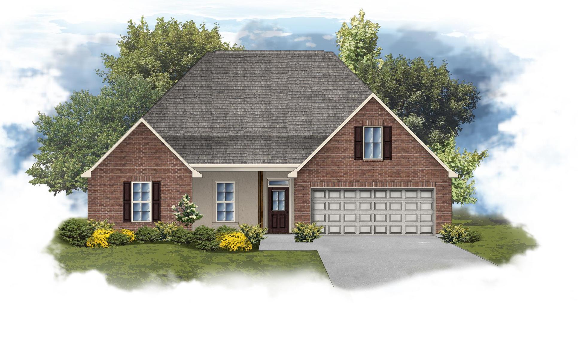 Cognac IV B - Front Elevation - DSLD Homes