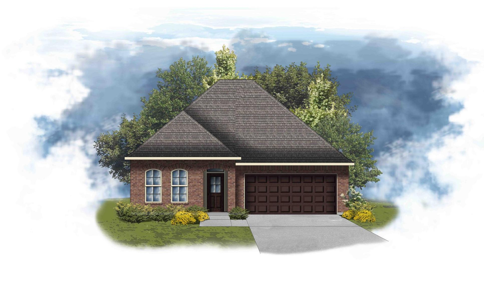Maple III A - Front Elevation - DSLD Homes