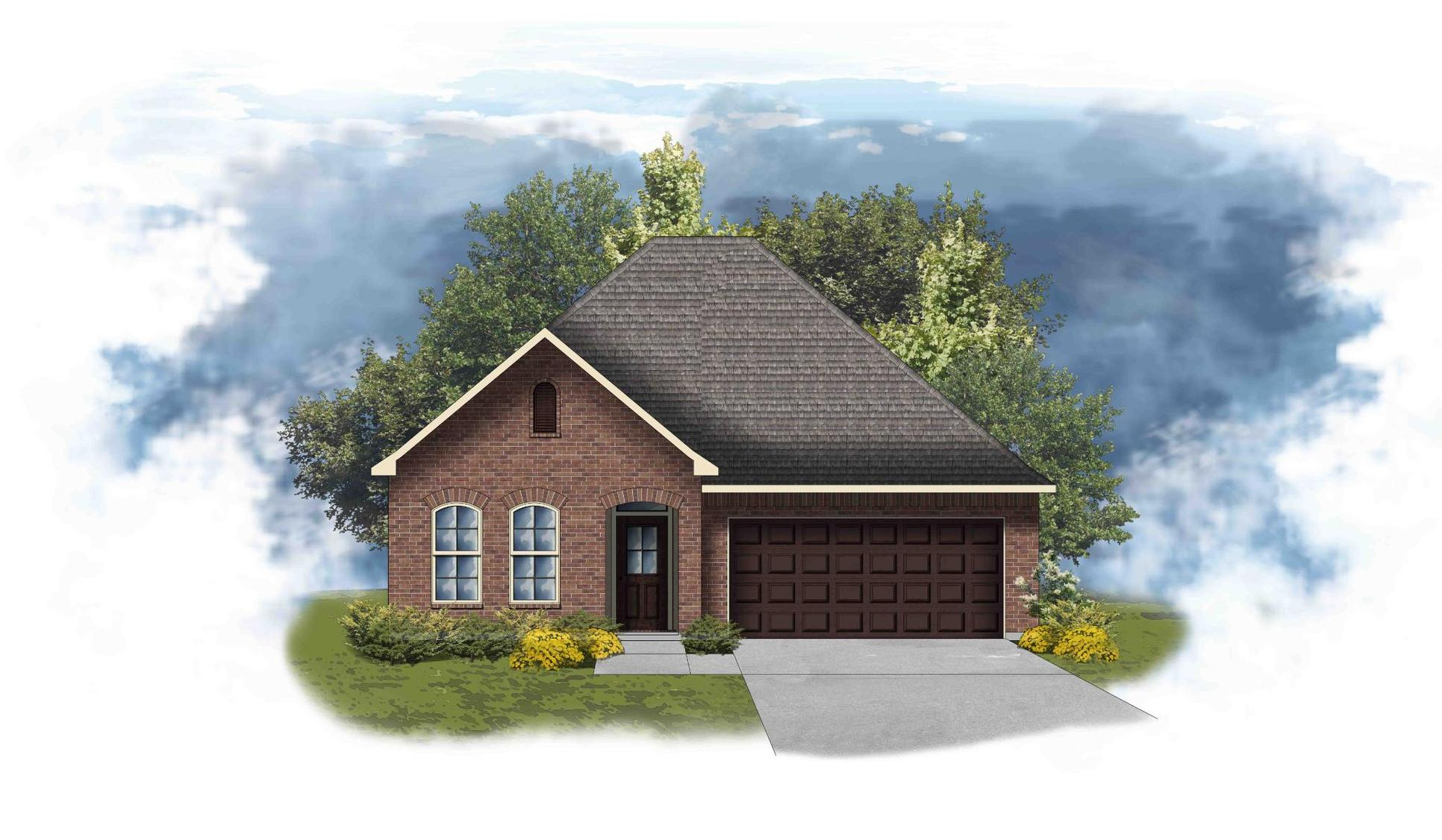 Maple III B - Front Elevation - DSLD Homes