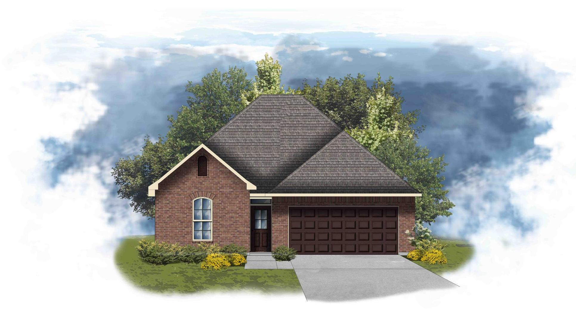 Azalea III A - Front Elevation - DSLD Homes