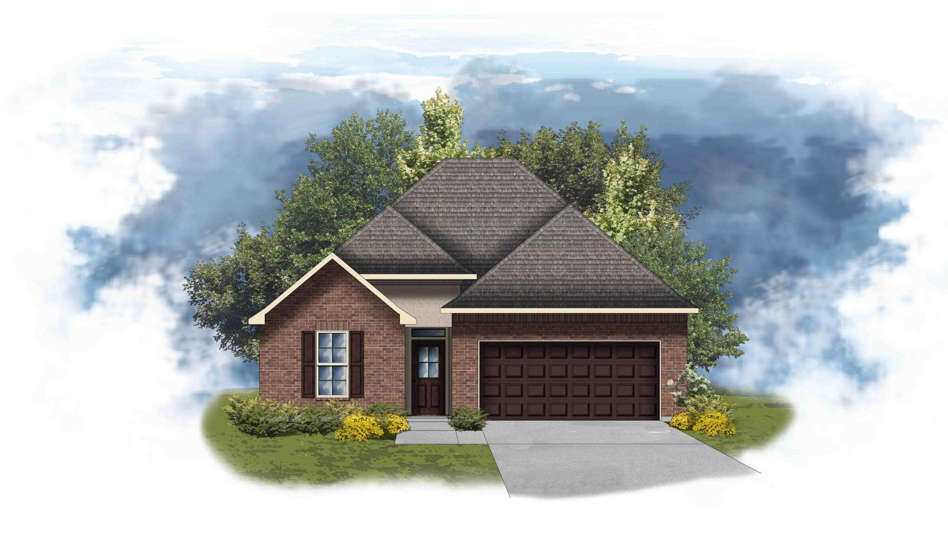 Cedar III A - Front Elevation - DSLD Homes