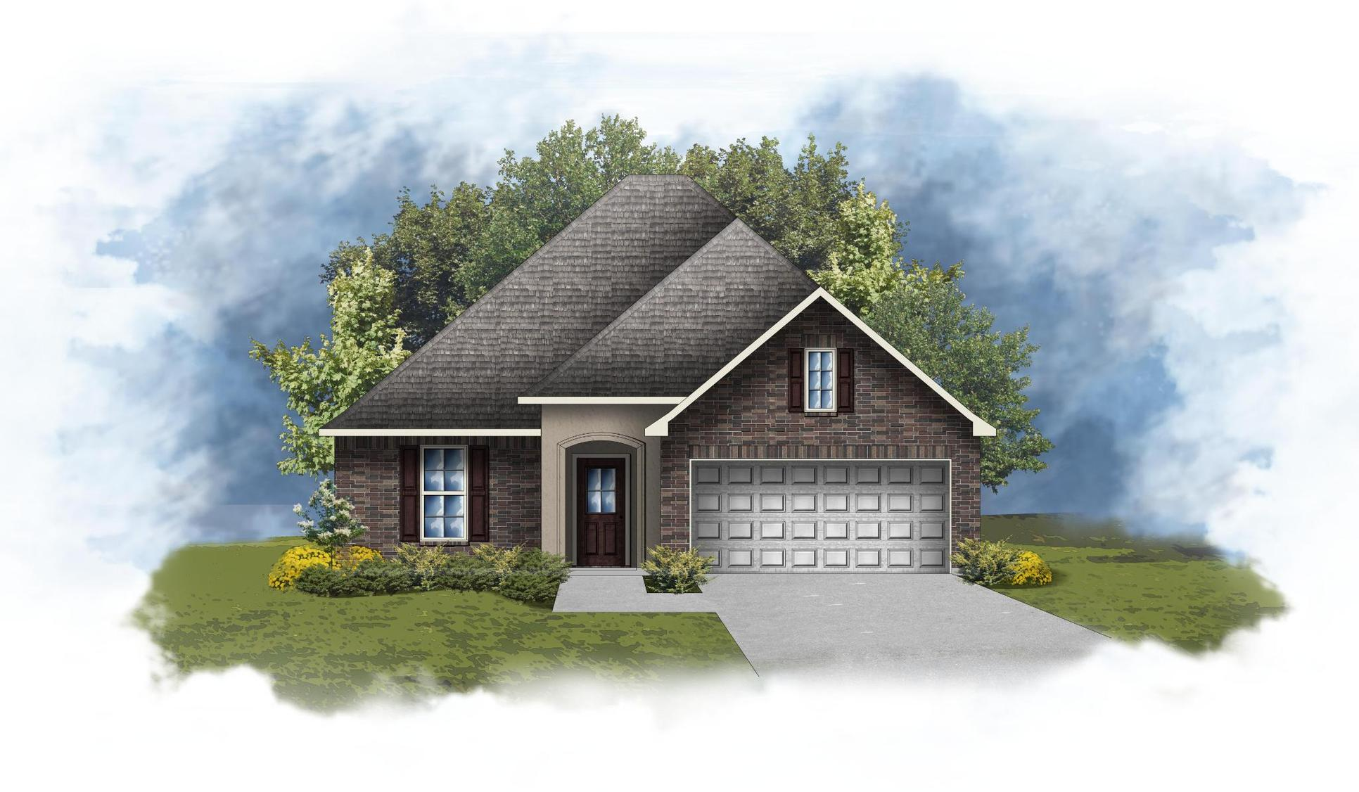 Rayleigh III A - Front Elevation - DSLD Homes