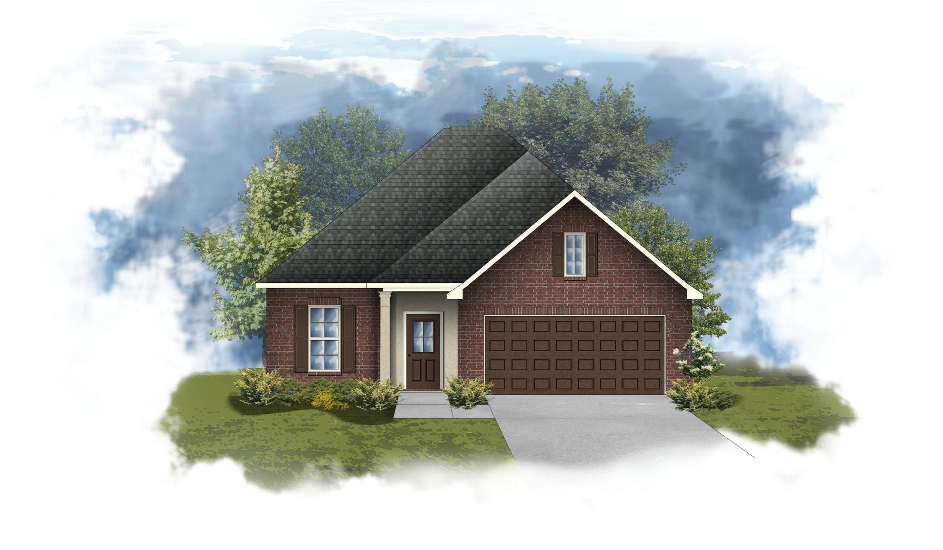 Dalton III A - Front Elevation - DSLD Homes