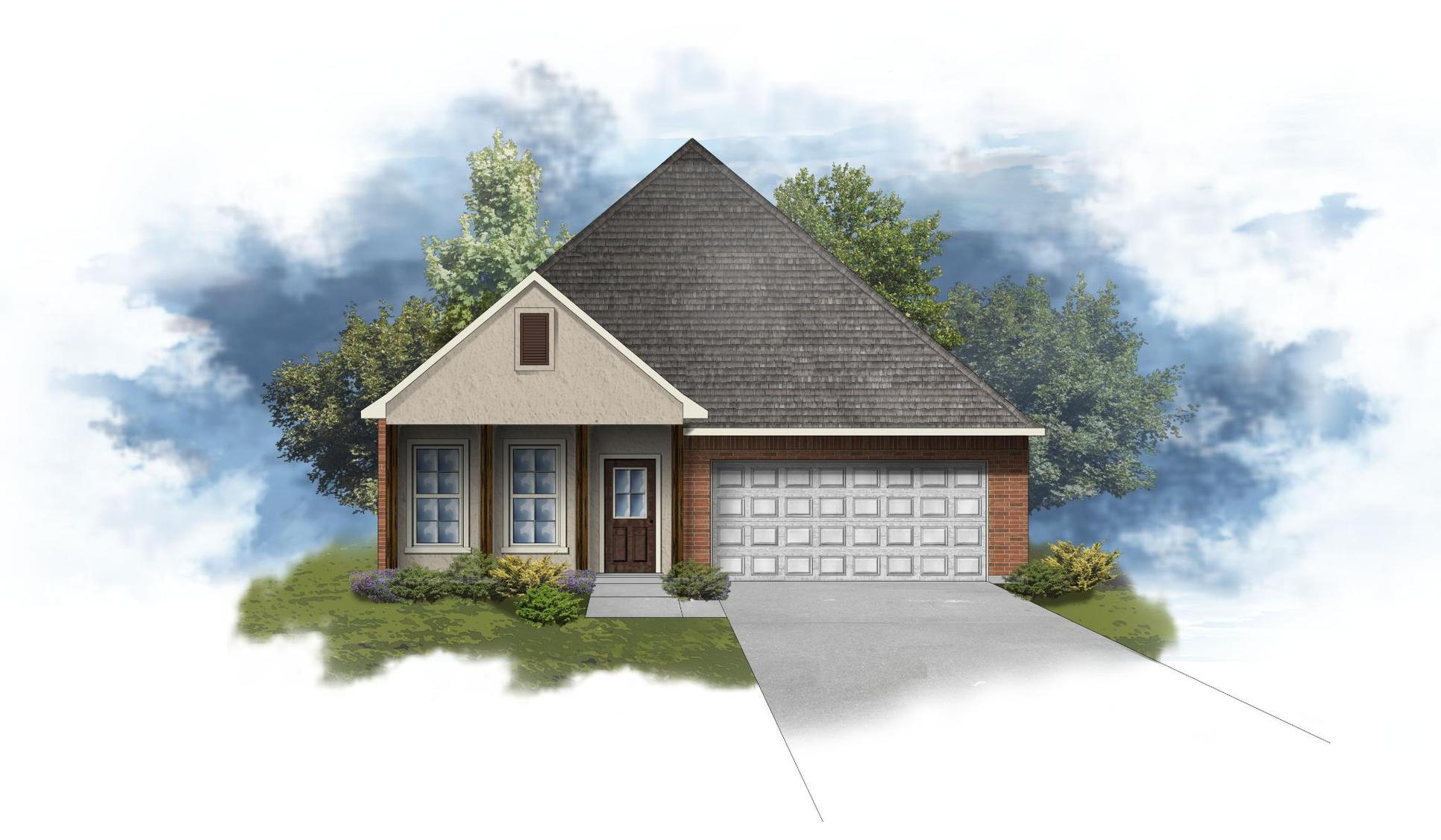 Oxford IV A - Front Elevation - DSLD Homes
