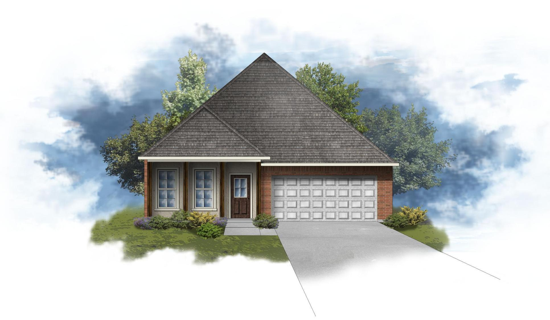 Oxford IV B - Front Elevation - DSLD Homes