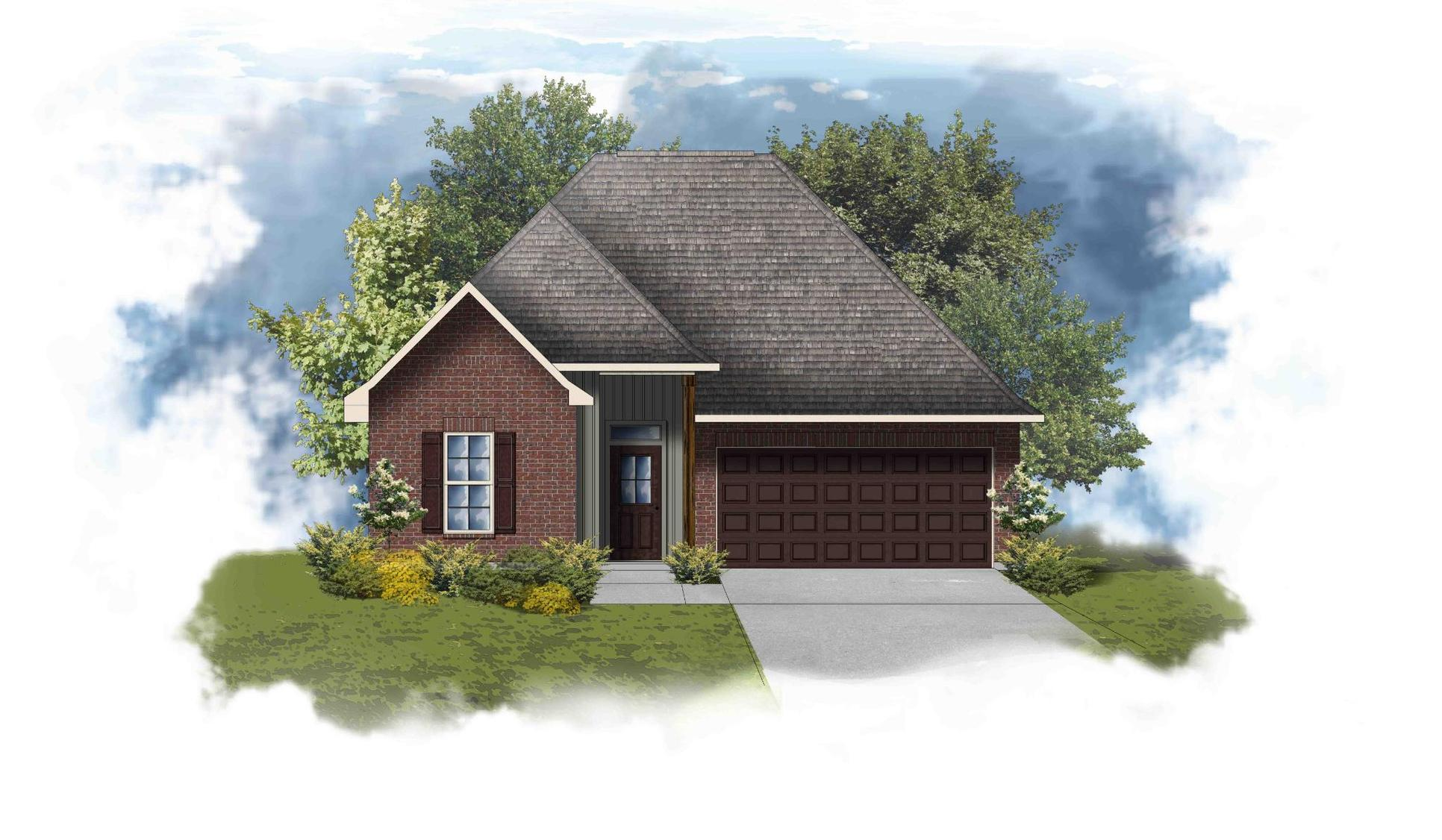 Trinity III H - Front Elevation - DSLD Homes