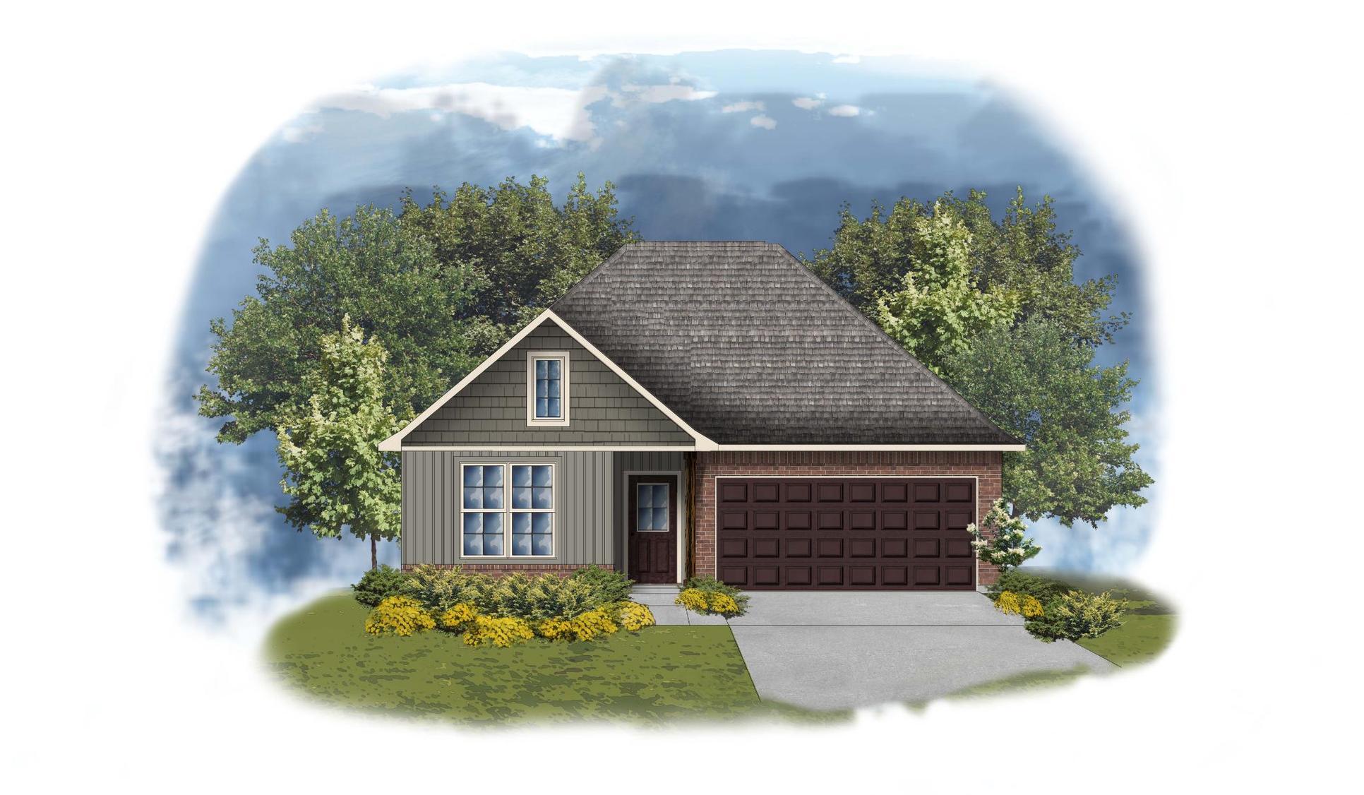 Yancy II G - Front Elevation - DSLD Homes