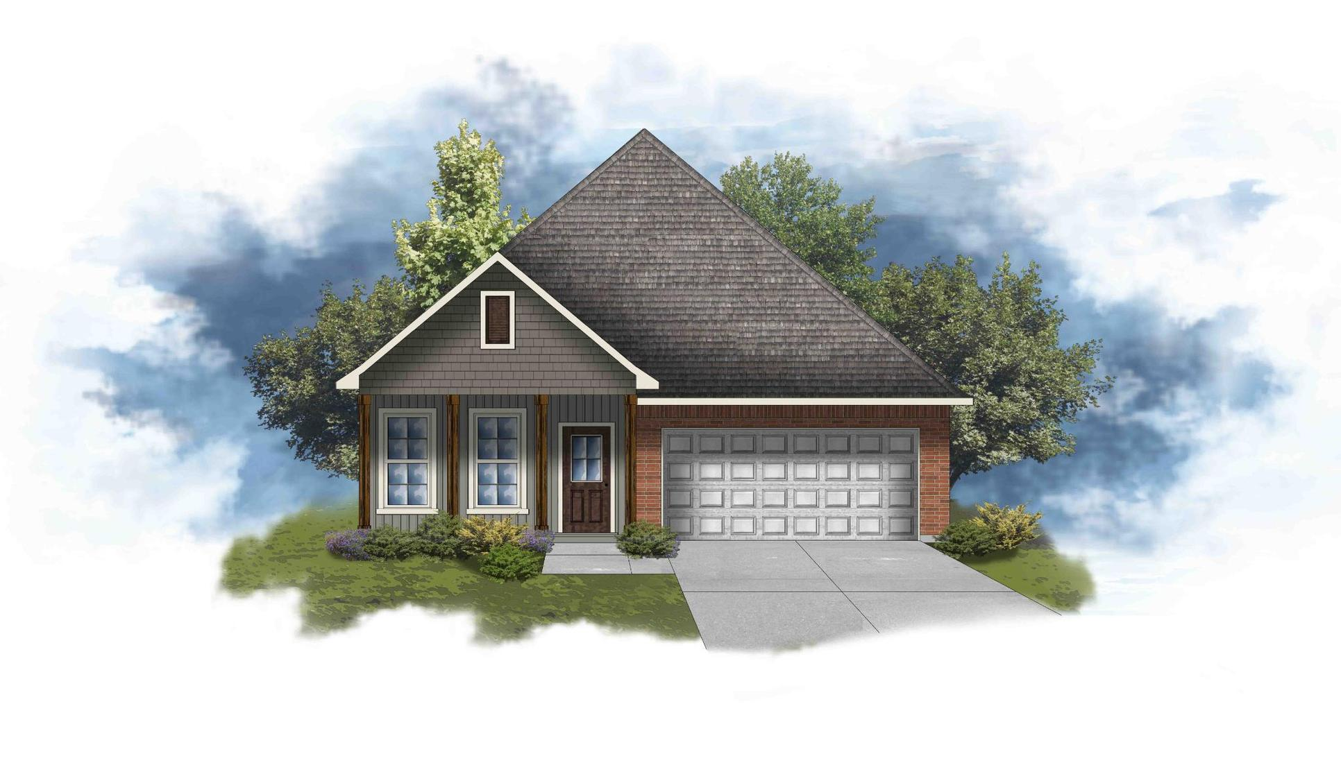 Oakridge IV G - Front Elevation - DSLD Homes