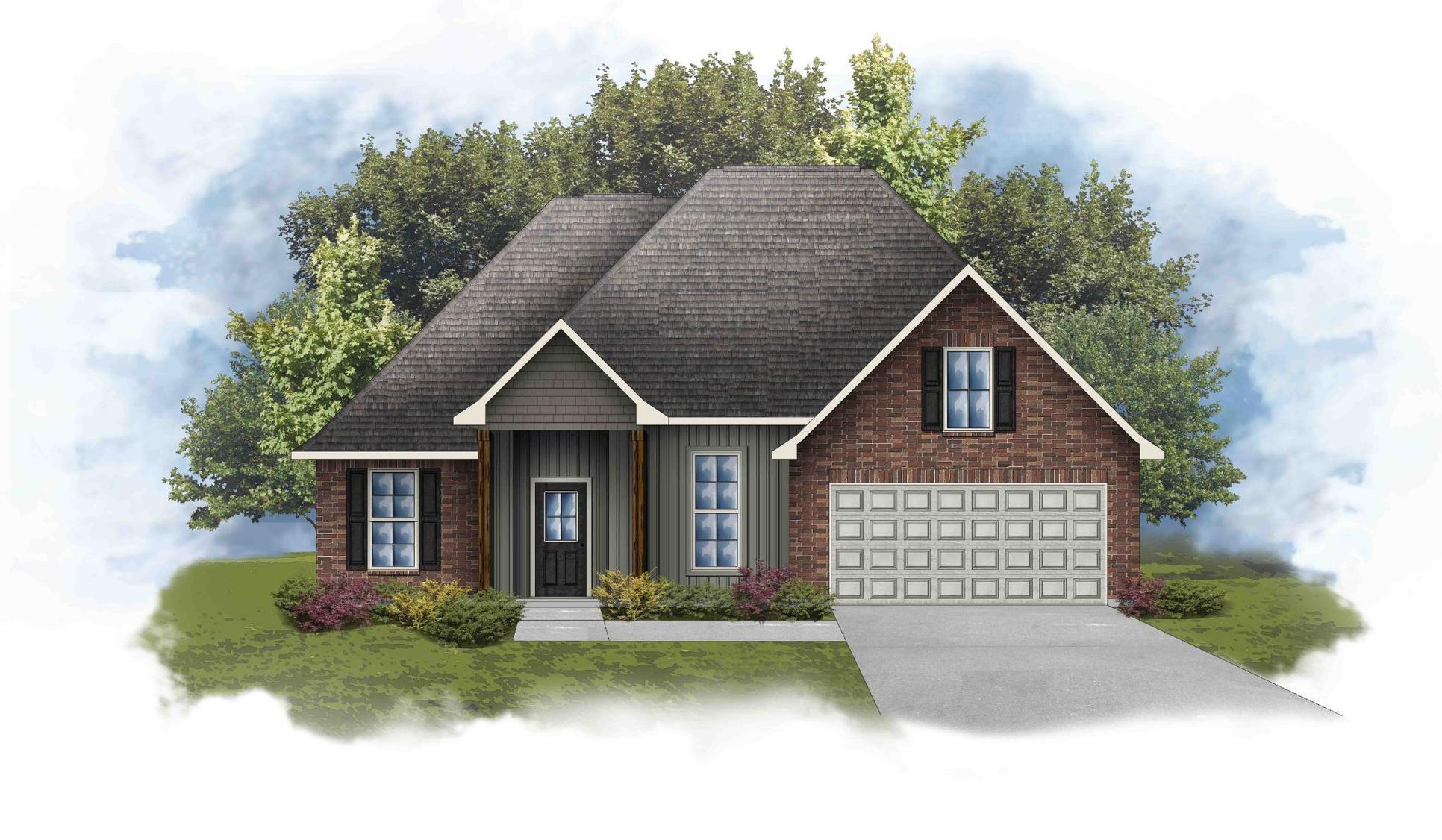 Rowland IV H - Front Elevation - DSLD Homes