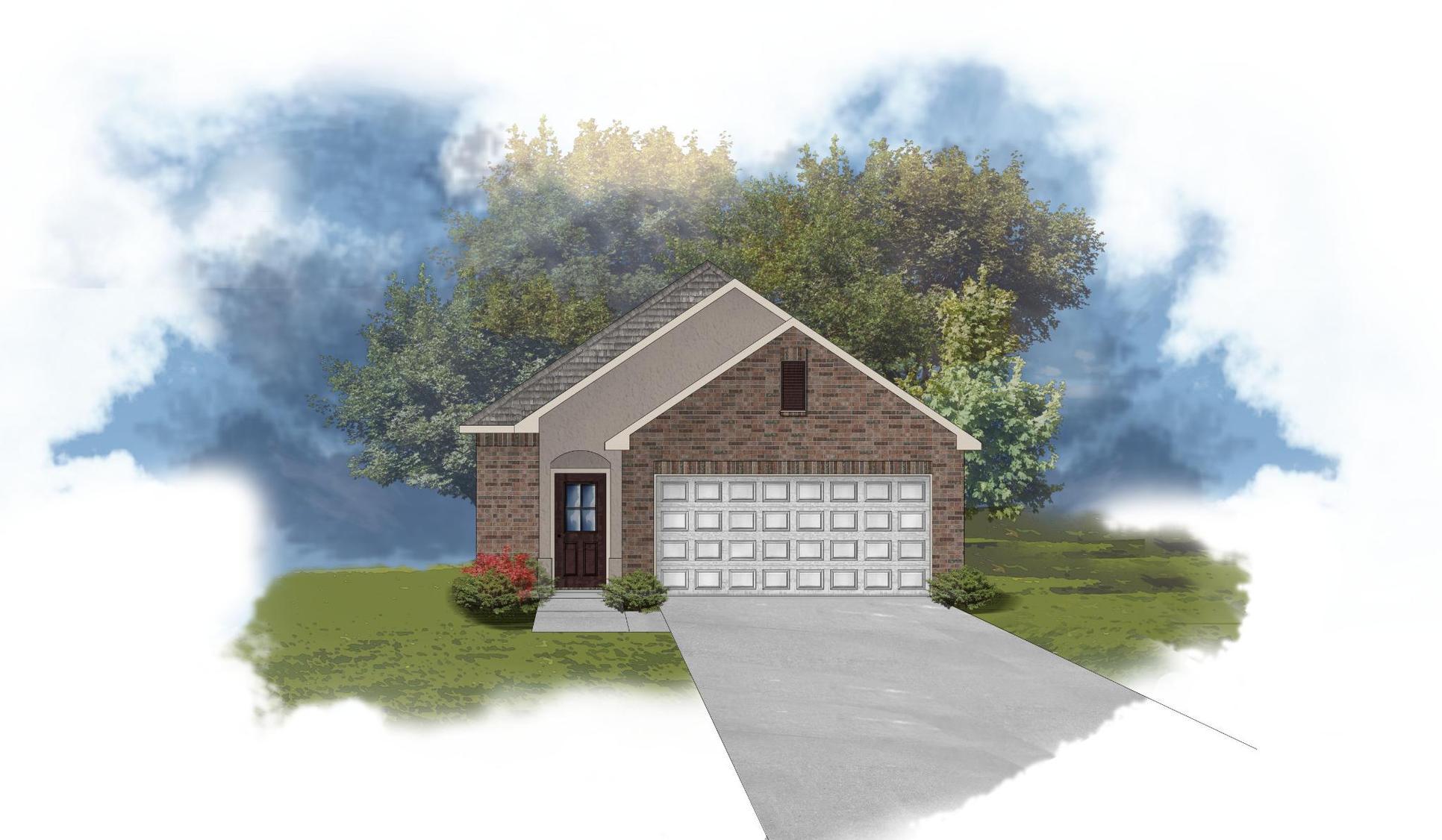 Langley II A - Front Elevation - DSLD Homes