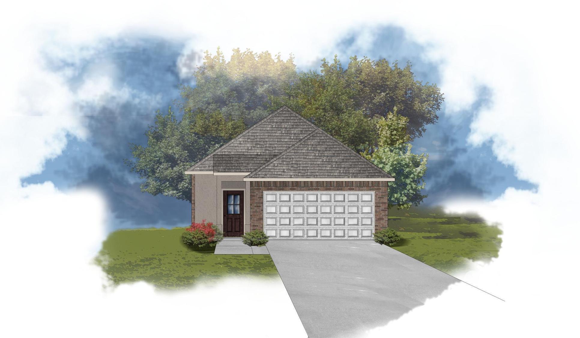 Langley II B - Front Elevation - DSLD Homes