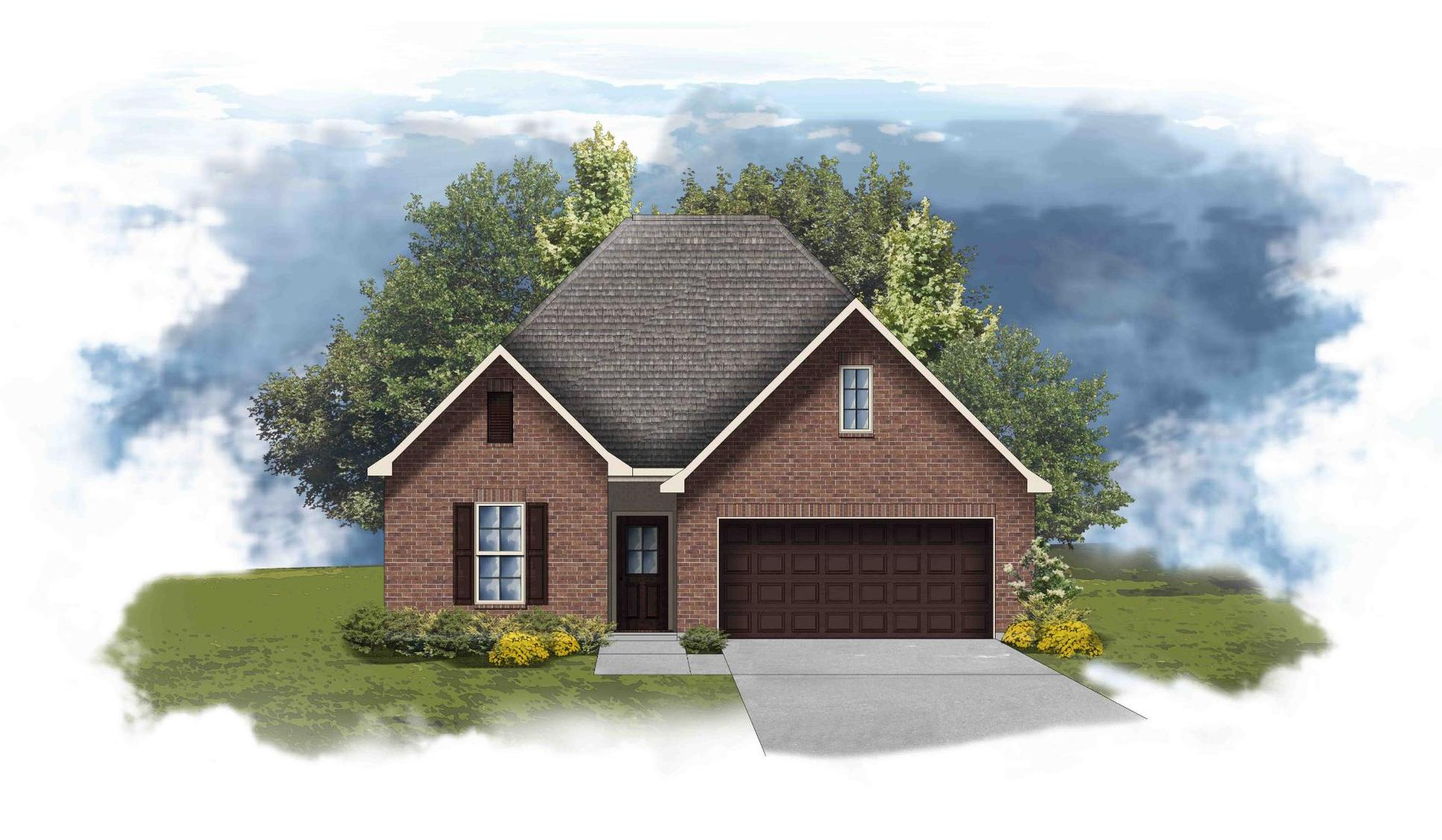 Fleetwood II A - Front Elevation - DSLD Homes