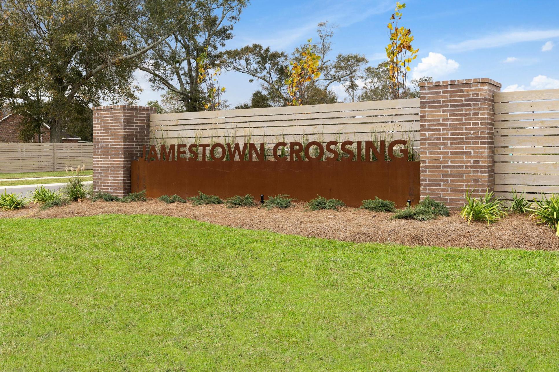 Jamestown Crossing - Domenico II A Plan - Prairieville, LA - DSLD Homes - Community Entrance Sign