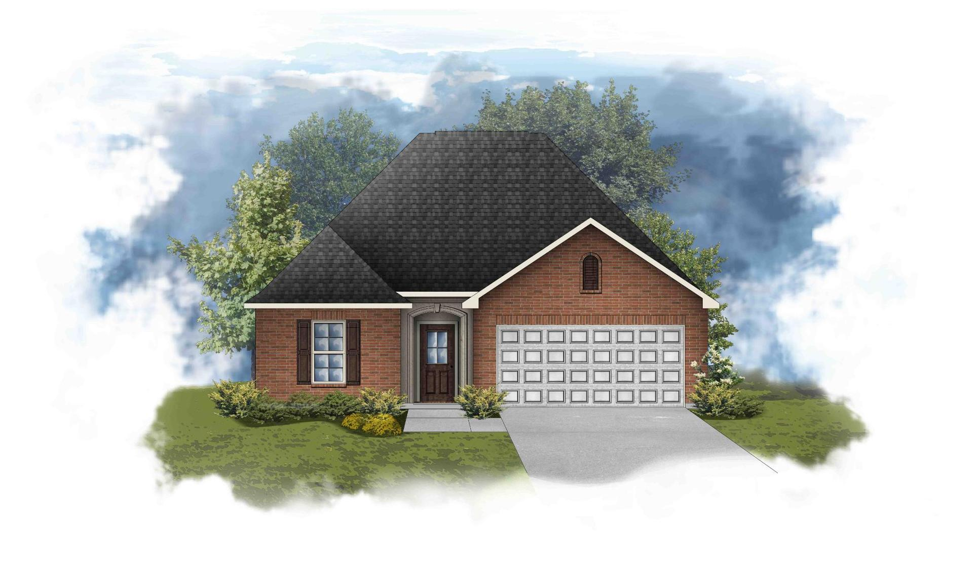 Carlton III A - Front Elevation - DSLD Homes
