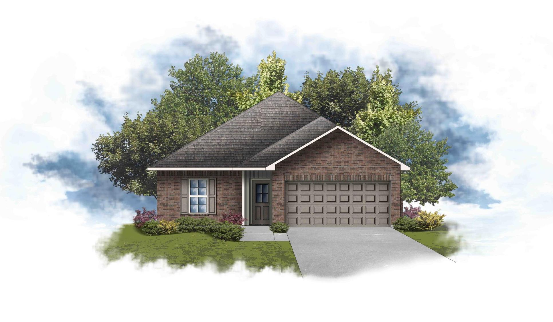 Princeton III G - Front Elevation - DSLD Homes