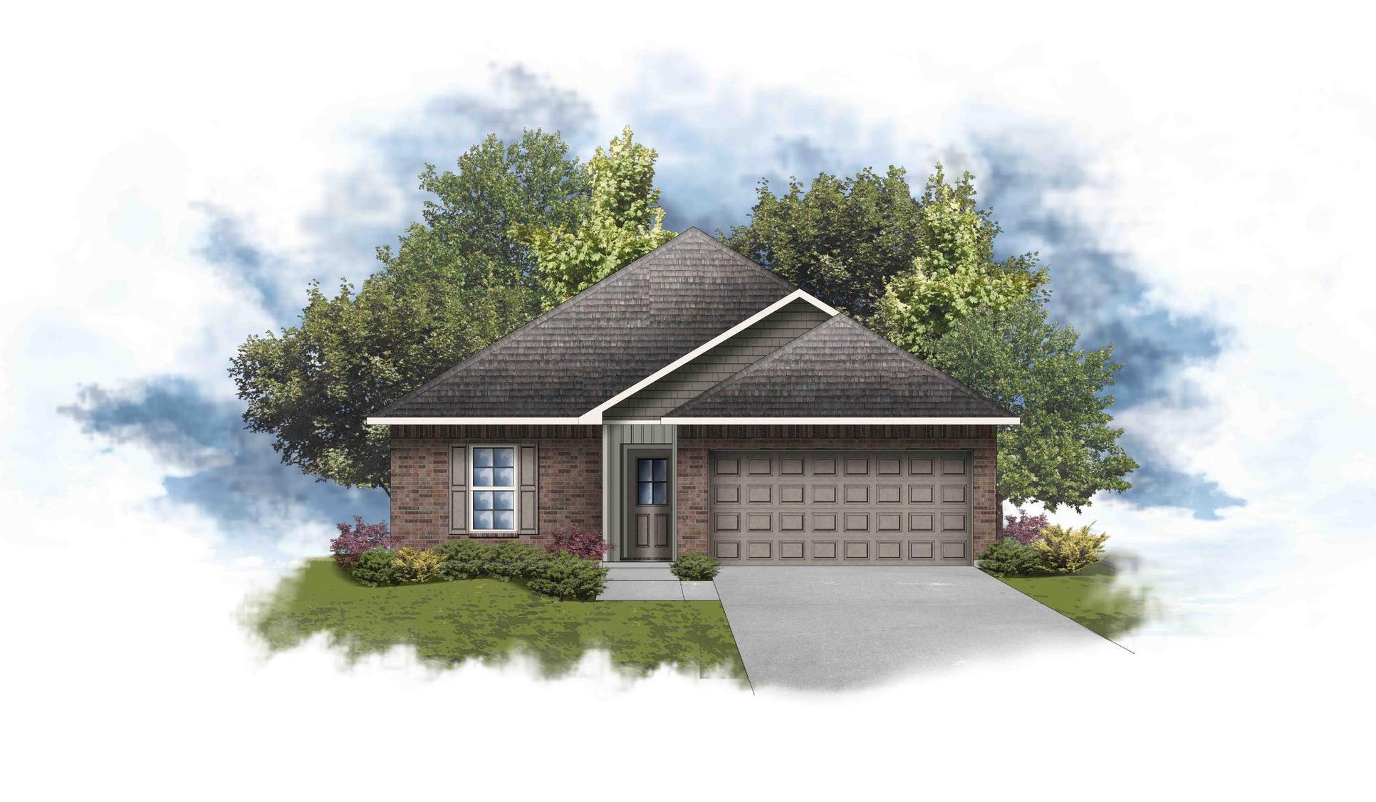 Princeton III H - Front Elevation - DSLD Homes