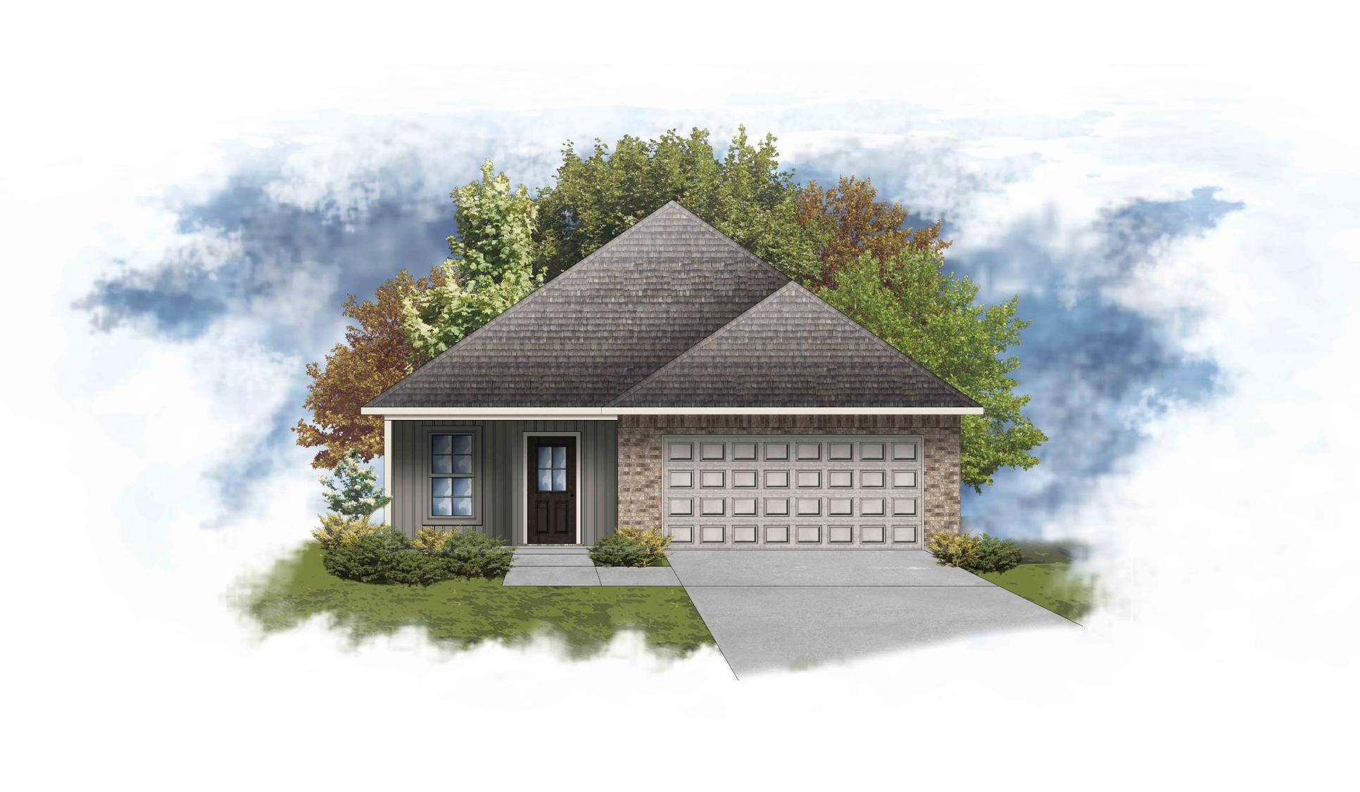 Matthews III G - Front Elevation - DSLD Homes