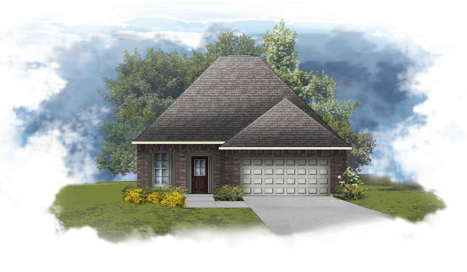 Fletcher IV H - Front Elevation - DSLD Homes