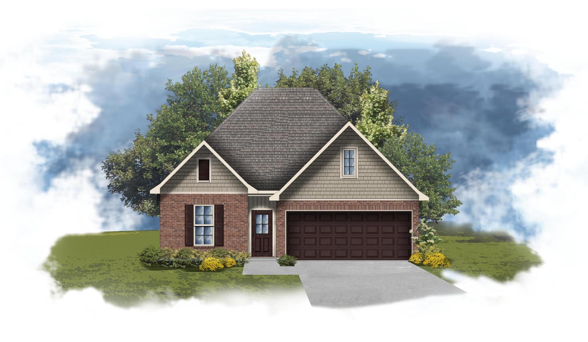 Fremont II G - Front Elevation - DSLD Homes