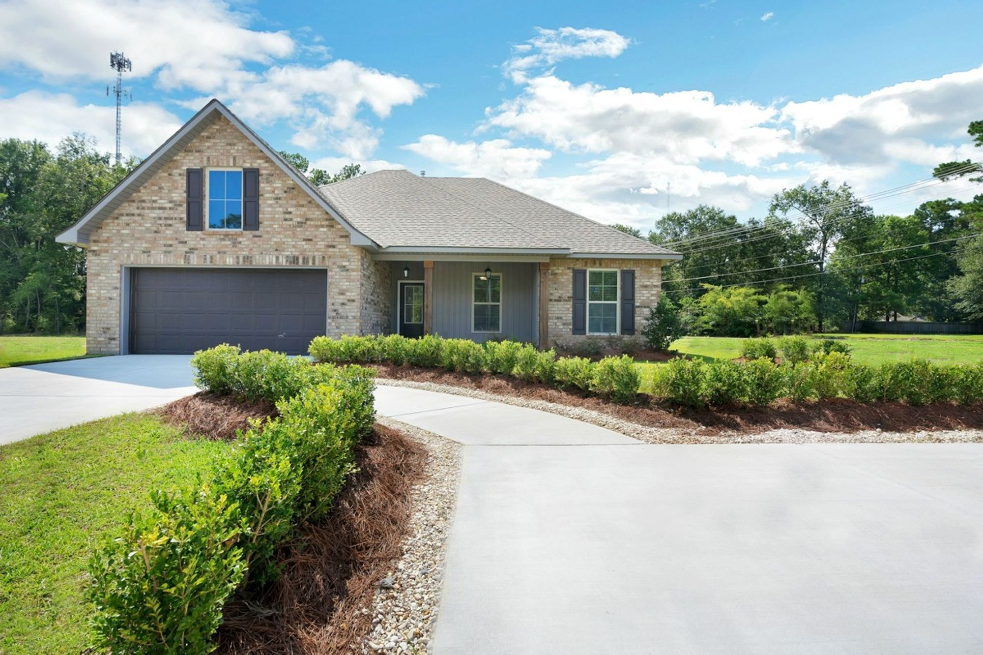 new homes in ponchatoula la by dsld homes:Raleigh IV A - Plan - Gray's Creek Community - Front of Home