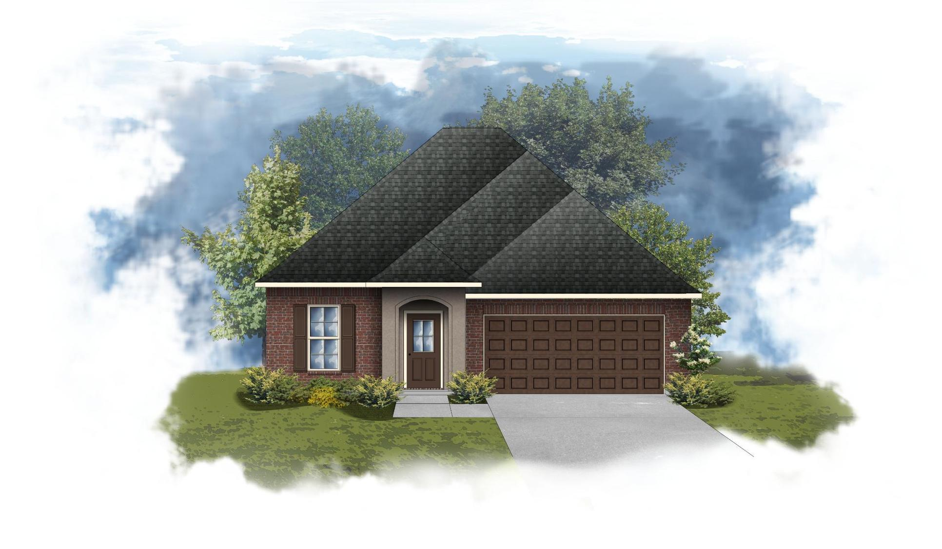 Dogwood III C - Front Elevation - DSLD Homes